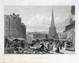 'The High Street Market, Birmingham', 1827.