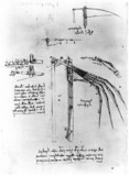 Design for the wing of a flying machine, by Leonardo da Vinci, 15th century.