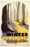 'Winter Sunshine', Southern Railways poster, c 1930s.