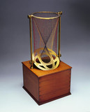 Cylinder, cone and two conoids, string surface model, 1872.