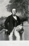 Sir Joseph Paxton, English architect and designer of the Crystal Palace, 1851.