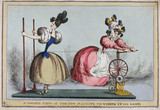 'A Correct View of the New Machine for Winding up the Ladies', c 1830.