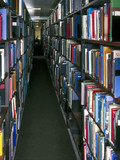 Book stacks, Imperial College and Science Museum library, March 1999.