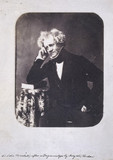 John Herschel, English astronomer and scientist, c 1855.