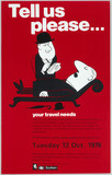 'Tell us please...your travel needs', BR (SR) poster, 1976.
