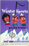 'Winter Sport - Go by Train', BR poster, 1965.