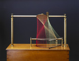 Skew surface with its tangent paraboloid. String surface model, 1872.