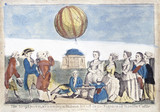 The Royal Family watching Argaudi's balloon at Windsor Castle, 1783.