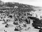 Crowds on the beach, Bournemouth, Dorset, 2