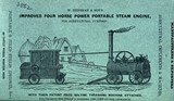 Portable steam engine with threshing machine, 1851.