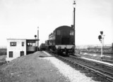 LMS diesel shunter with wagons, Toton marsh