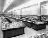 Woolworth department store interior, c 1950.