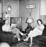 Miner and his wife relaxing at home, West