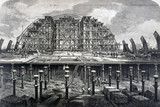St Pancras Station, London, under construction, 22 February 1868.
