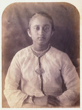 Young woman, Ceylon, c 1875.