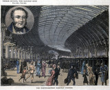 George Hudson and the North-Eastern Railway Station, York, c 1900.