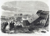 Fatal accident at Staplehurst, Kent, June 1865.