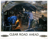'Clear Road Ahead', BR poster, 1950s.