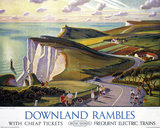'Downland Rambles', BR poster, 1950s.