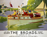 'The Broads', LNER/LMS poster, 1937.