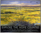 'Explore the Home Counties', LNER poster, 1936.