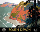 'South Devon', GWR/SR poster, 1945.