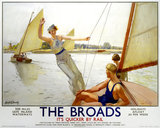The Broads, LNER poster, 1923-1947.