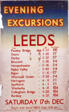 'Evening Excursions to Leeds', LNER poster, 1938.