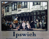 'Ipswich: Mr Pickwick outsideThe Ancient House', LNER poster, 1928.