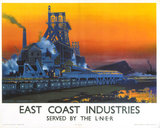 'East Coast Industries', LNER poster, 1938.