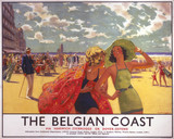 'The Belgian Coast', SR/LNER poster, 1930s.