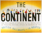 'The Continent', BR poster, 1948-1965.
