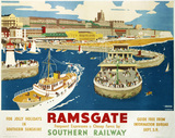 'For Jolly Holidays in Southern Sunshine' SR poster, Ramsgate, 1939.