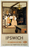 'The Ancient House, Ipswich', LNER poster,1932.
