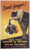 'Send your Luggage in Advance', BR poster, 1950s.
