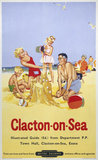 'Clacton-on-Sea', BR poster, 1958.