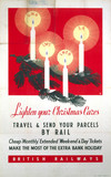 'Lighten Your Christmas Cares', BR poster, 1948-1965.