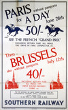 'Paris and Brusels', SR poster, 1936.