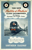 'The New Battle of Britain Clas Locomotives', SR poster, 1947.