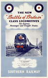 'The New Battle of Britain Clas Locomotives', SR poster, 1948.