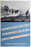 'Now that our men have landed on enemy soil...', REC poster, 1939-1945.