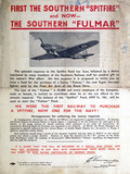 "'First the Southern ""Spitfire""', SR poster, 1941."