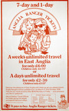 '7-Day and 1-Day Anglia Ranger Tickets', poster, 1978.