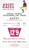 'Ascot Races', BR poster, 1954.