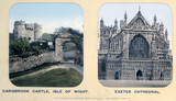 Carisbrook Castle, Isle of Wight, and Exeter Cathedral, Devon, 1910s.