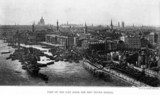 View of the City of London from the new Tower Bridge, 1894.