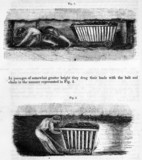 Hurriers drawing loaded corves in a mine, 1842.