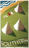 'Camping Sites in Southern England', SR poster, 1935.