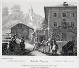 'Entrance to the Mine', Durrnberg, Austria, c 1850s.