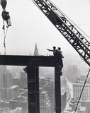 Laying a Beam, Empire State Building', New York, c 1931.